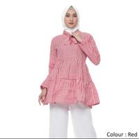 Atasan Muslim Original | Nadine Tunik | Blouse Wanita - Navy Blue