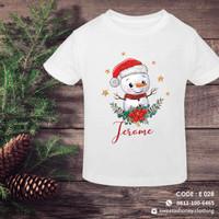 Tshirt/Kaos Anak Custom Design Tulisan Christmas E028 Print DTG Katun