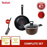 Tefal Wajan & Panci Complete Set 3 - Penggorengan