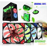 fan case led 15 nyk - fan casing 12cm led Kipas PC color
