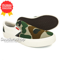 Sepatu Warrior Avatar Army Putih / Sepatu Warrior Slip On Army Putih