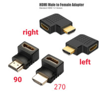 xon konektor adapter hdmi 90 120 derajat right left male female 1080p