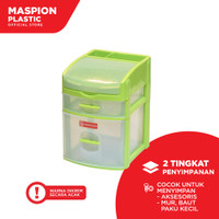 Maspion Laci Mini Container Plastik - Fancy Box S1L1 (2 Susun)