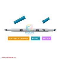 TOMBOW ABT PRO P443 Turquoise Dual Brush Pen Alcohol-Based Marker