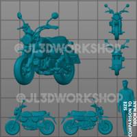 JL3D Motor Skala 1/64 Honda Monkey utk Hotwheels Mini GT Tarmac