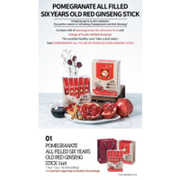 Korean Red Ginseng Extract 6 Years Old Pomegranate stick 12gr X 30