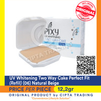 UV Whitening - Pixy - Two Way Cake Perfect Fit (Refill) 06 Natural Bei