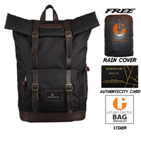 Tas Ransel Laptop Backpack RollTop URBAN FACTOR Jam Session Black