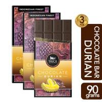 WoCA Premium Chocolate 3 x 90g Bars - Cokelat Batang Rasa Durian