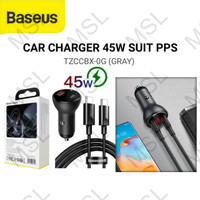 Baseus Car Charger Mobil 45W USB + Type C PPS QC3.0 Fast Charging Suit