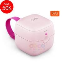 59s UVC LED Mini Sterilizing Box Portable Sterilizer (1) - Merah Muda