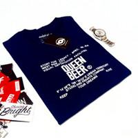 Pakaian Pria Kaos Distro Super Premium /Queen Beer Navy