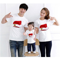 Kaos Couple Family Santa Claus 01