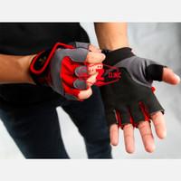 Sarung Tangan Glove Golds Gym - Merah, M