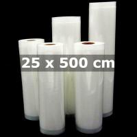 UK 25x500cm Kantong Plastik Vacuum Sealer Storage Bag 1 Roll - HK-07