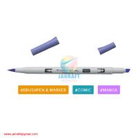 TOMBOW ABT PRO P603 Periwinkle Dual Brush Pen Alcohol-Based Marker
