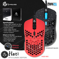 G-Wolves Hati S Small / Mini Ultra Lightweight Wired Gaming Mouse