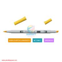 TOMBOW ABT PRO P055 Process Yellow Dual Brush Pen Alcohol-Based Marker