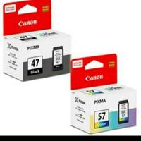 TINTA CATRIDGE CANON PIXMA PG 47 + CL 57 ORIGINAL for E400, E460