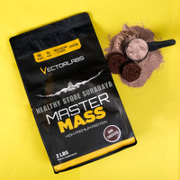 VECTORLABS MASTERMASS 2 LBS BPOM SUSU FITNESS PROTEIN GAINER ON GYM LB
