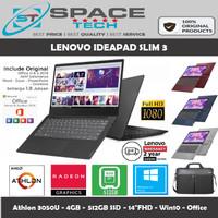 LAPTOP LENOVO IDEAPAD SLIM 3 - ATHLON 3050U 4GB 512GB SSD 14FHD WIN10