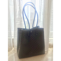 Eco Bags Tas Anyam Dark Brown (made from Recycled Plastics)