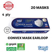 Masker Sensi Convex 4ply Earloop isi 20 pcs - Biru