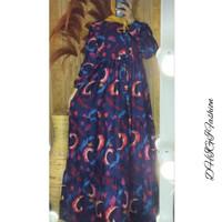 Baju GAMIS premium ruffle kekinian bahan katun rayon 103D