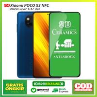 Tempered Glass Ceramic 9D Full Xiaomi POCO X3 NFC Premium Quality