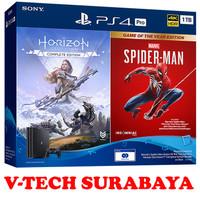 PS4 PLAYSTATION 4 PRO BUNDLE SPIDERMAN DAN HORIZON ZERO DAWN 1TB
