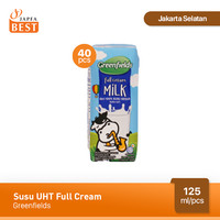 Susu Greenfields UHT Full Cream 125 ml - Isi 40 pcs
