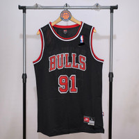 Jersey Basket Swingman NBA Chicago Bulls Dennis Rodman hitam black