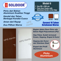 Pintu Aluminium Starmas Solidoor Model 6 (80 x 200 cm)