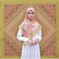 Roemi Aztec Orange Premium Voal Segiempat Lasercut Jilbab Hijab