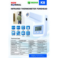 K8 Termometer Stand Alone Non Kontak / Wall Mounted Thermometer