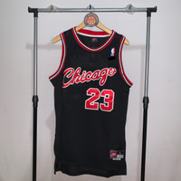 Jersey Basket Swingman NBA Chicago Bulls Rookie Michael Jordan hitam