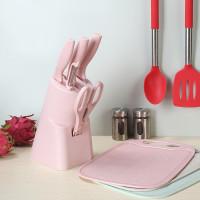 7 in 1 Kitchen Knife Set / Talenan Pisau Pengupas Gunting Dapur Set