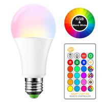lampu bohlam led RGB warna warni remote kontrol lampu tidur dekor kafe