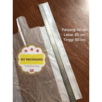 Kantong plastik PE 40 x 60 BENING TEBAL JUMBO BESAR