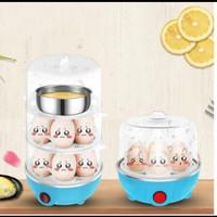 Electric Steam Egg Cooker Boiler - Alat Kukus 3 Susun Elektrik