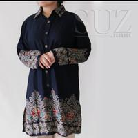 Baju Atasan Wanita Kemeja Panjang Tunik Jumbo besar 3143
