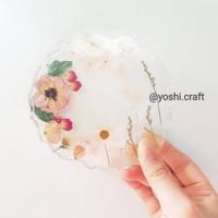 Preserved flower coaster / tatakan bunga kering