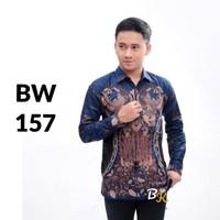 KEMEJA BATIK PRIA LENGAN PANJANG KANTOR PEKALONGAN SOLO BW 157 - XXL