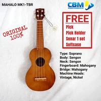 UKULELE MAHALO SOPRAN PAKET LENGKAP MK1-TBR ORI