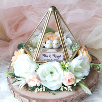 Kotak cincin ring bearer wedding ring box terarium terrarium