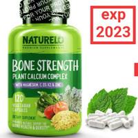 NATURELO Bone Strength complex, plant calcium magnesium D3 K2 zinc