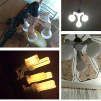 skyled studio fitting e27 socket cabang 5 lampu bohlam LED hias foto