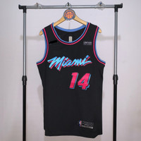 Jersey Basket Swingman NBA Miami Heat Tyler Herro vice hitam pink