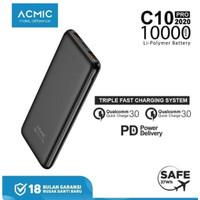 ACMIC C10PRO 10000mAh Powerbank Quick Charge 3.0 + PD Power Delivery -