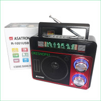Radio Asatron R-1051 USB SD AM-FM Emergency Lamp